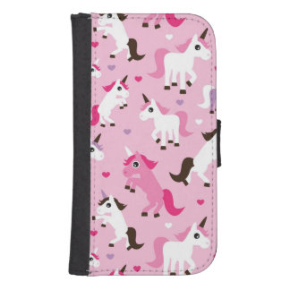 unicorn illustration kids background samsung s4 wallet case