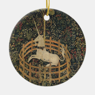 Unicorn in Captivity Christmas Ornament