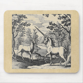 Unicorn in the Forest Mouse Pad