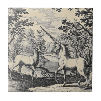 Unicorn in the Forest Tile