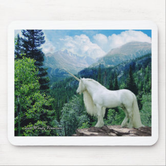 Unicorn In The Mountains Mouse Pad