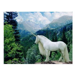 Unicorn In The Mountains Postcard