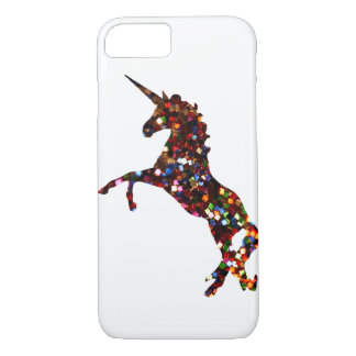 Unicorn iPhone 7 Case: Glitter silhouette iPhone 7 Case