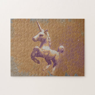 Unicorn Jigsaw Puzzle with Box (Metal Lavender)