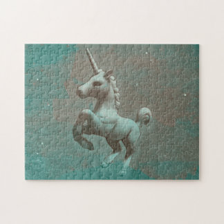 Unicorn Jigsaw Puzzle with Box (Teal Steel)