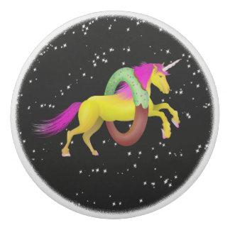 Unicorn Jumping Through a Doughnut Eraser