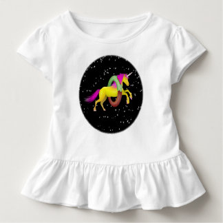 Unicorn Jumping Through a Doughnut Toddler T-Shirt