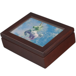 Unicorn Keepsake Box (Blue Arctic)
