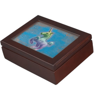 Unicorn Keepsake Box (Blue Nebula)