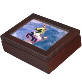 Unicorn Keepsake Box (Burnt Blue)