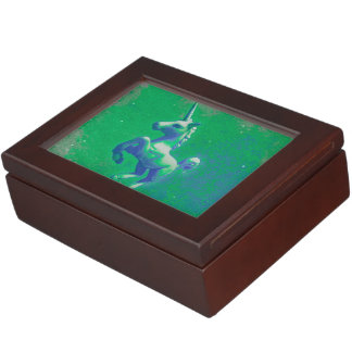 Unicorn Keepsake Box (Glowing Emerald)
