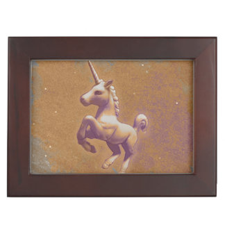 Unicorn Keepsake Box (Metal Lavender)