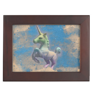 Unicorn Keepsake Box (Sandy Blue)