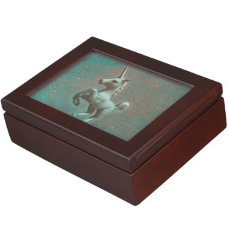 Unicorn Keepsake Box (Teal Steel)