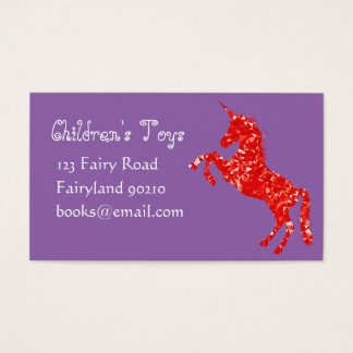 Unicorn kids online toys and books business business card