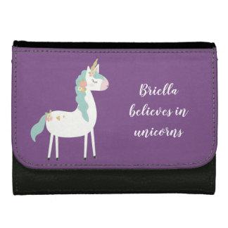 Unicorn leather wallet, believes in unicorns women's wallets