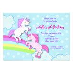 Unicorn Little Pony Birthday Party Invitations