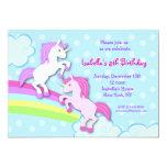 "Unicorn Little Pony Birthday Party Invitations 5"" X 7"" Invitation Card"