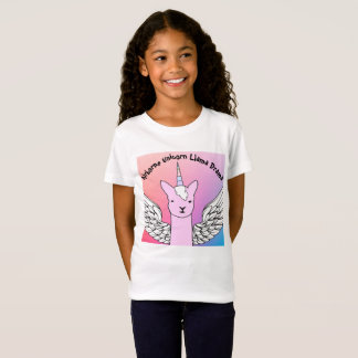 Unicorn Llama T-shirt for Girls