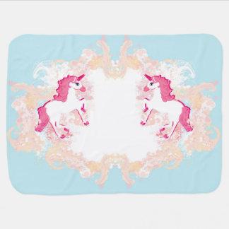 unicorn logo Baby Blanket