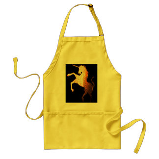 unicorn logo golden adult apron
