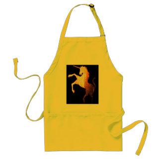 unicorn logo golden standard apron