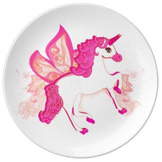 unicorn logo Porcelain Plate