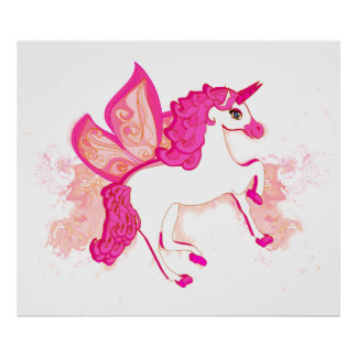 unicorn logo Poster