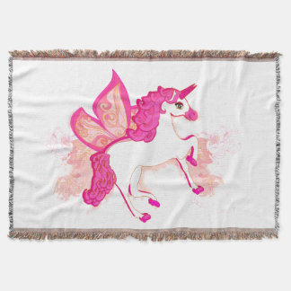 unicorn logo Throw Blanket