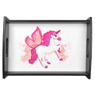 unicorn logo tray