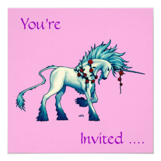 Unicorn Lord Invitation Cards ...