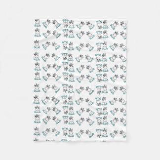 unicorn love fleece blanket