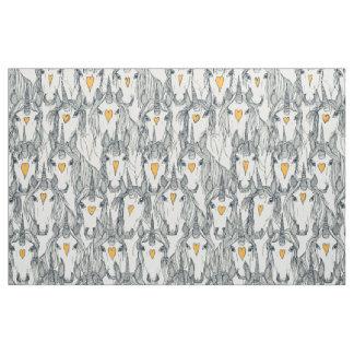 unicorn love indigo citrus pearl fabric