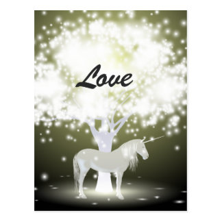 Unicorn Love Mystical Fantasy Postcard