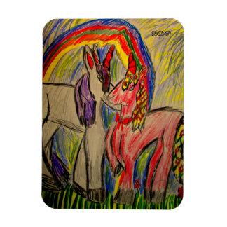 unicorn love rectangular photo magnet