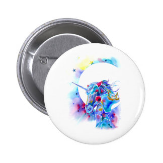 Unicorn Magic Round Pin