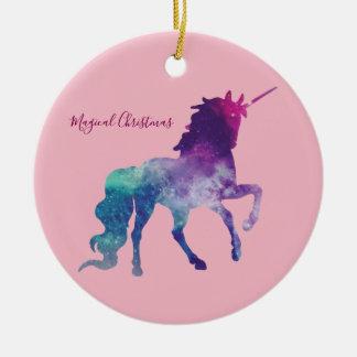 Unicorn Magical Christmas Christmas Ornament