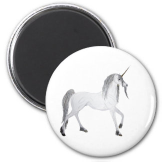 unicorn 6 cm round magnet