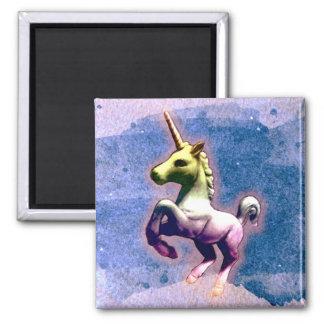 Unicorn Magnet - Round or Square (Burnt Blue)
