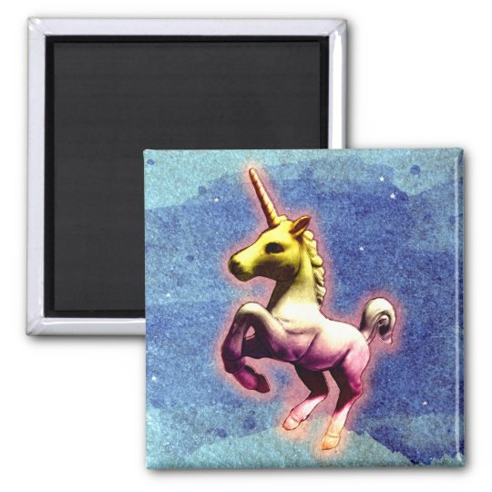 Unicorn Magnet - Round or Square (Galaxy Shimmer)