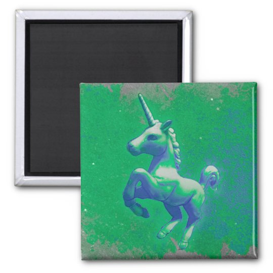 Unicorn Magnet - Round or Square (Glowing Emerald)