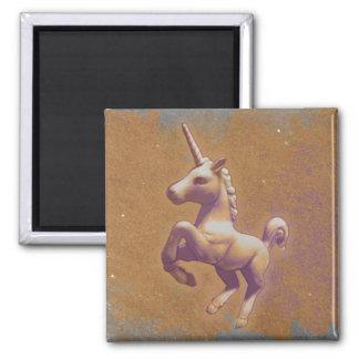 Unicorn Magnet - Round or Square (Metal Lavender)
