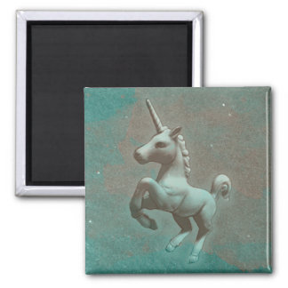Unicorn Magnet - Round or Square (Teal Steel)