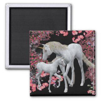 Unicorn Mare And Foal Fantasy Magnet