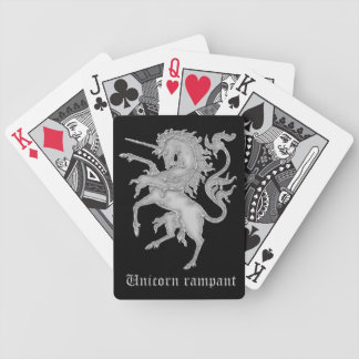 Unicorn medieval heraldry bicycle playing cards