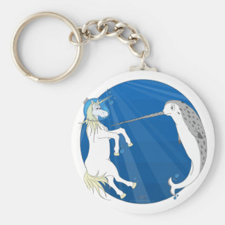 Unicorn Meets Narwhal Key Ring