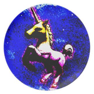 Unicorn Melamine Plate (Punk Cupcake)