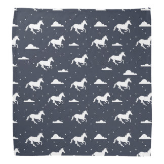 Unicorn Midnight Sky Pattern Bandana