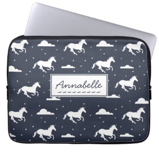 Unicorn Midnight Sky Pattern Laptop Sleeve