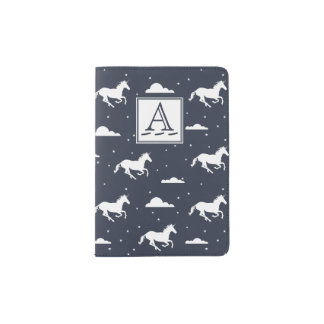 Unicorn Midnight Sky Pattern Passport Holder